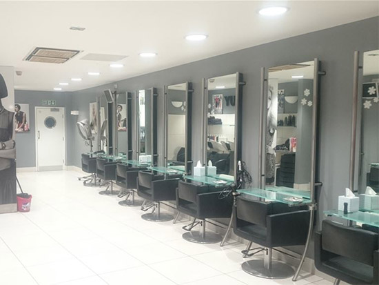 Hair Salon LED Lighting Case Study - After