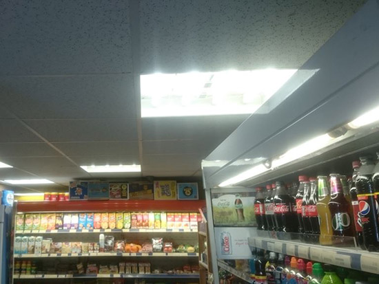 Convenience Store LED Lighting Case Study - Before