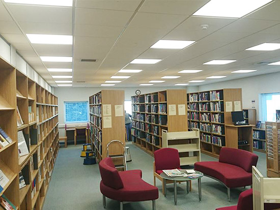 Library LED Lighting Case Study - After