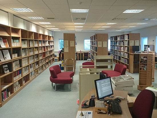 Library LED Lighting Case Study - Before