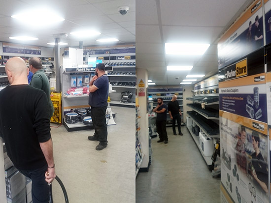 Trade Counter LED Lighting Case Study - After