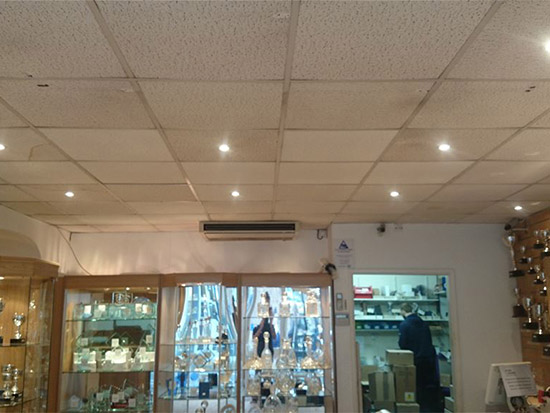 Retail Store LED Lighting Case Study - Before