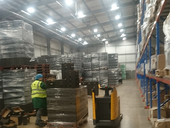 Food Packing Plant LED Lighting Case Study - Zone 1 - After