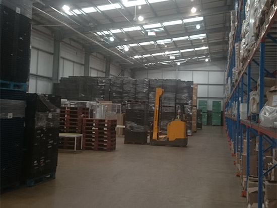 Food Packing Plant LED Lighting Case Study - Zone 1 - Before