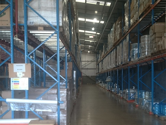 Food Packing Plant LED Lighting Case Study - Zone 2 - Before